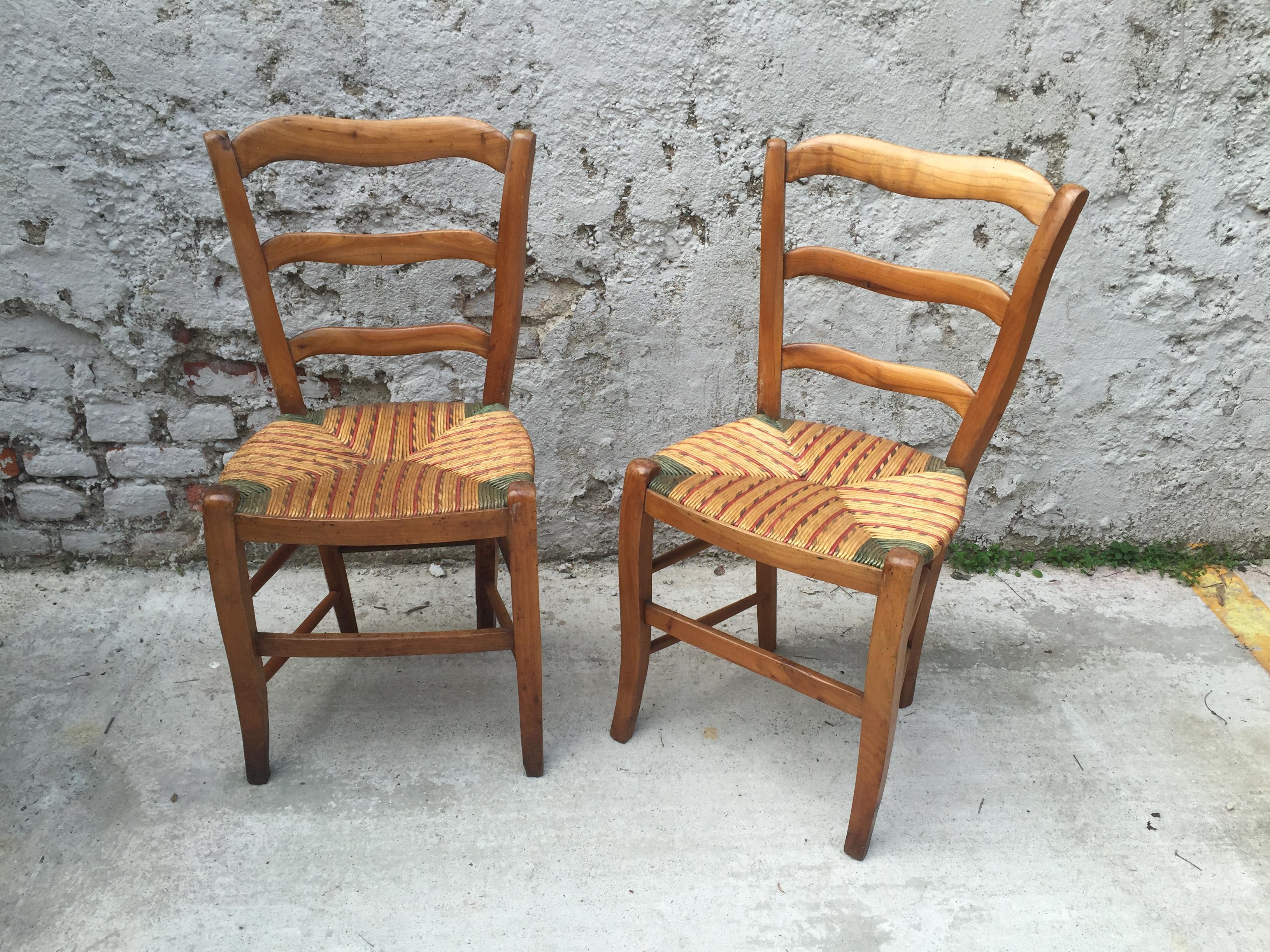 Sei sedie con seduta di paglia u foto n s « fa